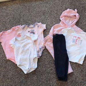 Lot of 9 Month Girls- Onesie/Pants/Jacket